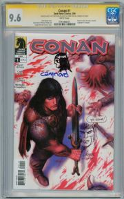 Conan #1 CGC 9.6 Signature Series Signed Cary Nord & Joseph M. Linsner Head Sketches Dark Horse